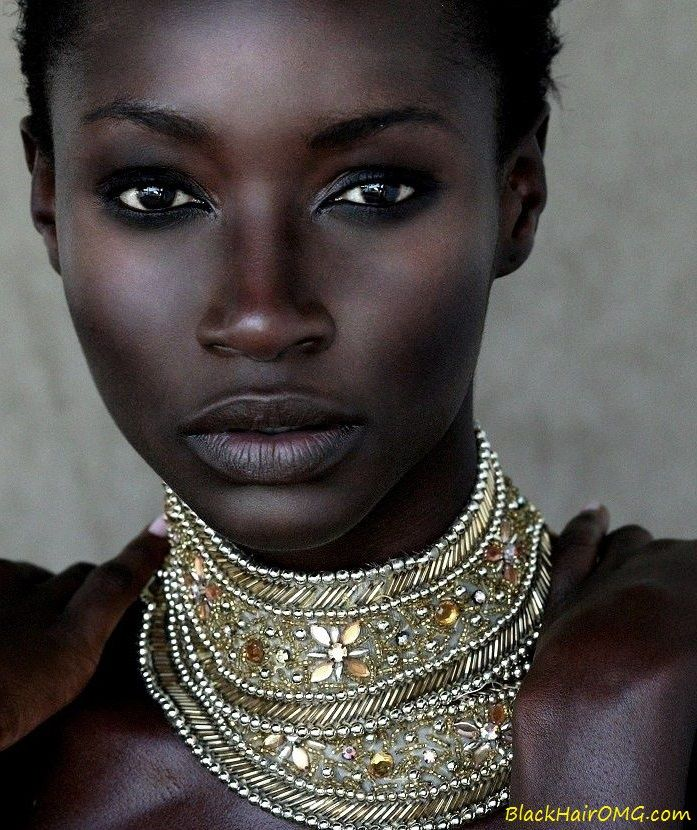 STUNNING dark-skinned black woman. www.BlackHairOMG.com natural hair & beauty