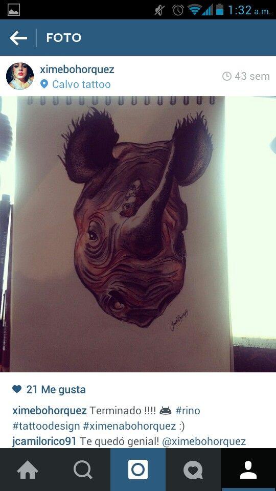 #charcoal #rhino #art #draws #tattoodesign #ximenabohorquez