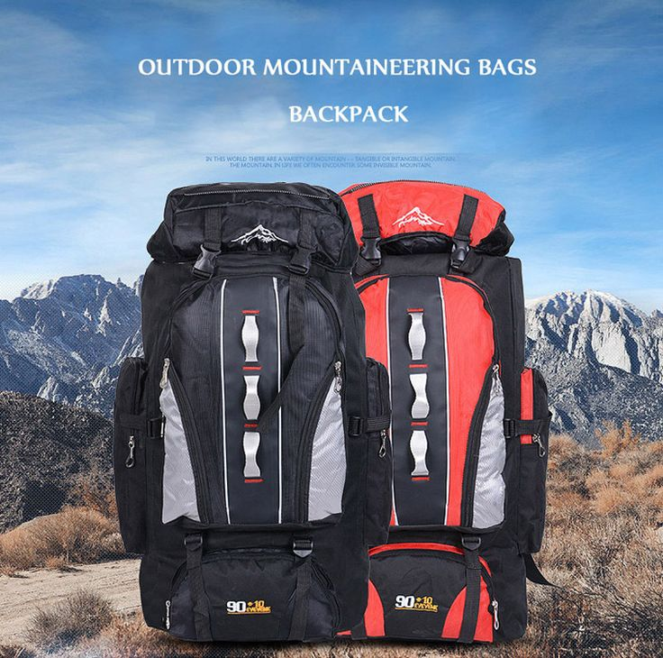 product information:  Name: Outdoor mountaineering bags  Coding: FT0026  Fabric: Waterproof Oxford cloth waterproof nylon  Color: black, red, blue, dark blue, orange  Size: Width -45cm, thick -26cm, 80cm high  Capacity: 100L  Weight: 1.2kg  The...