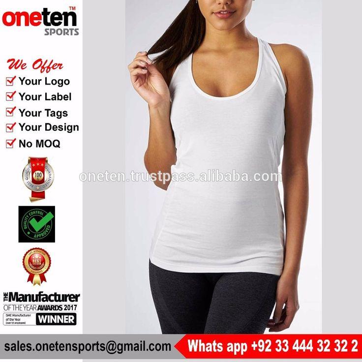 Slim fit bodybuilding women gym stringer vest fitness crop top - Ladies Gym wear
