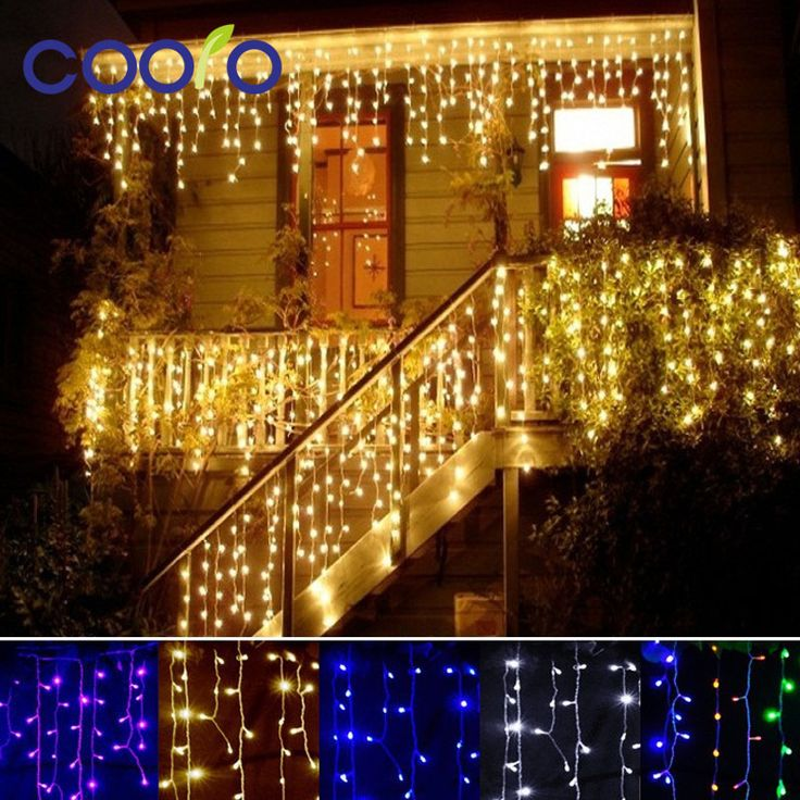 christmas outdoor decoration 3.5m Droop 0.3-0.5m curtain icicle string led lights 220V/110V New year Garden Xmas Wedding Party  Price: 7.40 USD