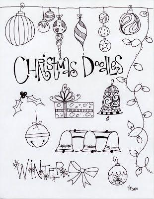 T. Matthews Fine Art: First Friday Art Class, December 2013 - Christmas Doodles