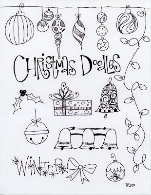 T. Matthews Fine Art: First Friday Art Class, December 2013 - Christmas Doodles