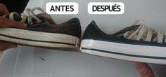 Cómo blanquear las zapatillas blancas con algunos trucos caseros ༺✿Teresa Restegui http://www.pinterest.com/teretegui/✿༻