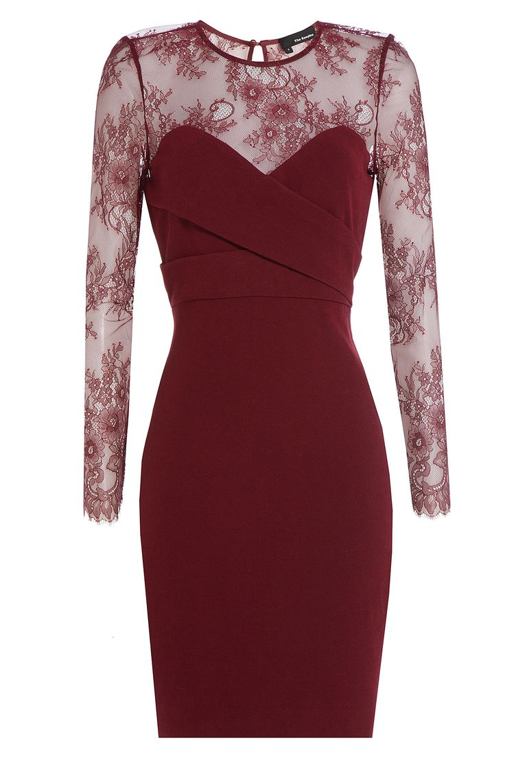 50 dresses any guest can wear to a winter wedding lace for Winter wedding guest dresses