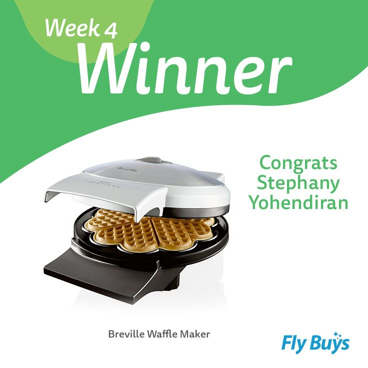 Congrats to Stephany Yohendiran who is our final Design your Ultimate Lifestyle winner! Stephany has won herself the Breville Waffle Maker  - enjoy! Mmmmm waffles.