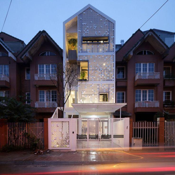 The Cocoon House by LANDMAK ARCHITECTURE (23)  Ventilation brick block