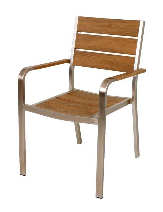 Harms Stapelstuhl FLORENCE, 2er-Set Aluminium champagner / Non-Wood, Teak-Optik Jetzt bestellen unter: https://moebel.ladendirekt.de/garten/gartenmoebel/gartenstuehle/?uid=41da89c2-bb1d-54c6-b3ab-15f6e9e8df6b&utm_source=pinterest&utm_medium=pin&utm_campaign=boards #baumarkt #klappsessel #garten #gartenstühle #gartenmoebel #gartenstuehle #gartenmöbel Bild Quelle: norma24.de
