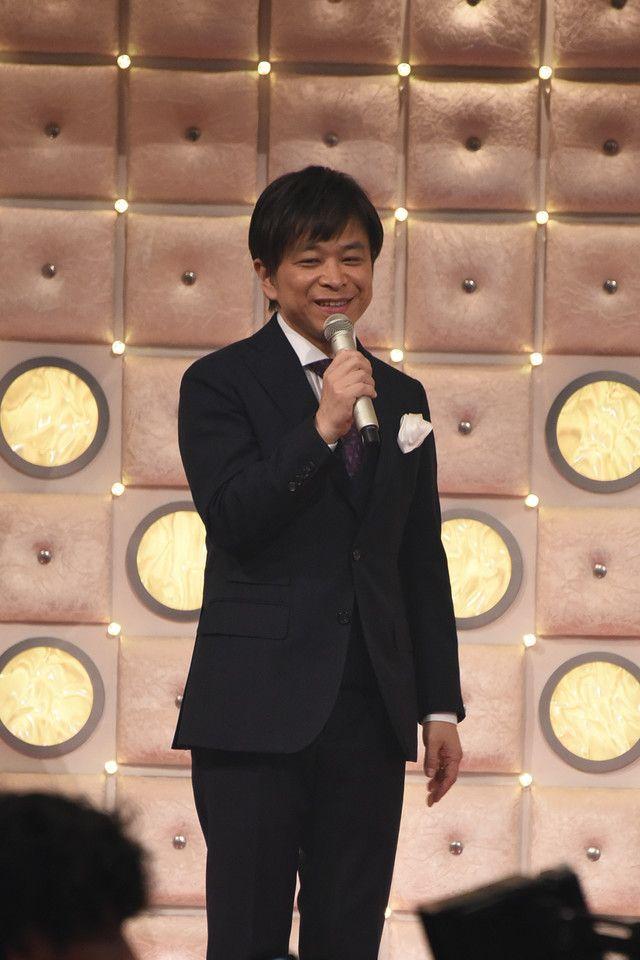 「第67回NHK紅白歌合戦」リハーサル時の総合司会、武田真一アナウンサー。