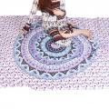 Boho Indian Mandala Square Polyester Beach Tapestry Hippie Throw Yoga Mat Towel