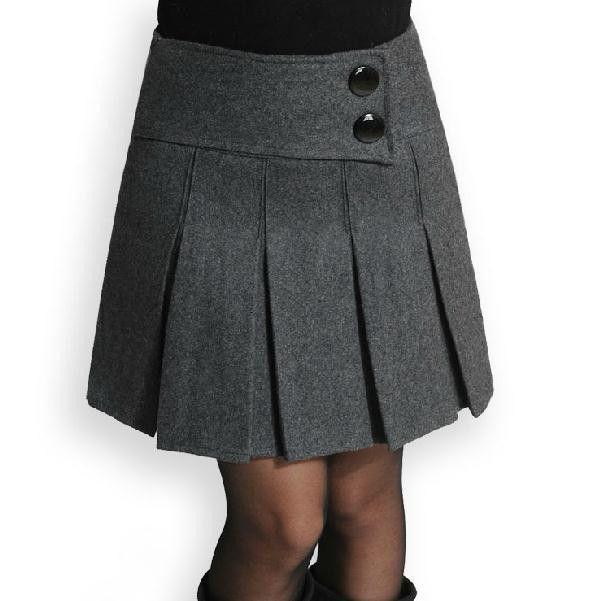 2015 herfst en winter wollen grijs geplooide korte rok zwarte laarzen voor vrouwen rokken met pocket skirtplus grootte m 4xl in            Tegel meetfout van ongeveer 1-3cm, gelieve  van Rokken op AliExpress.com | Alibaba Groep