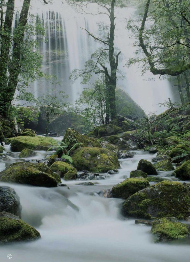 Jerusalem River waterfalls, Tasmania, Australia....