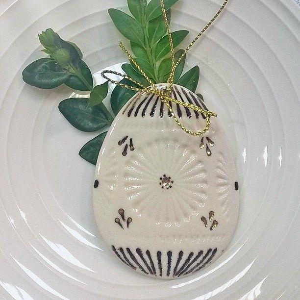 Handmade porcelain Easter egg...