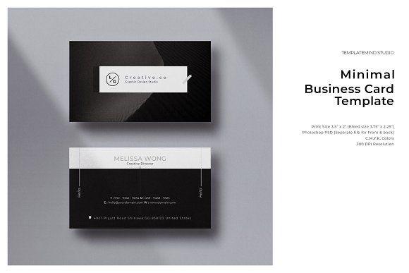 Minimal Business Card Vol 25 Minimal Business Card Business Card Design Minimal Business Card Template