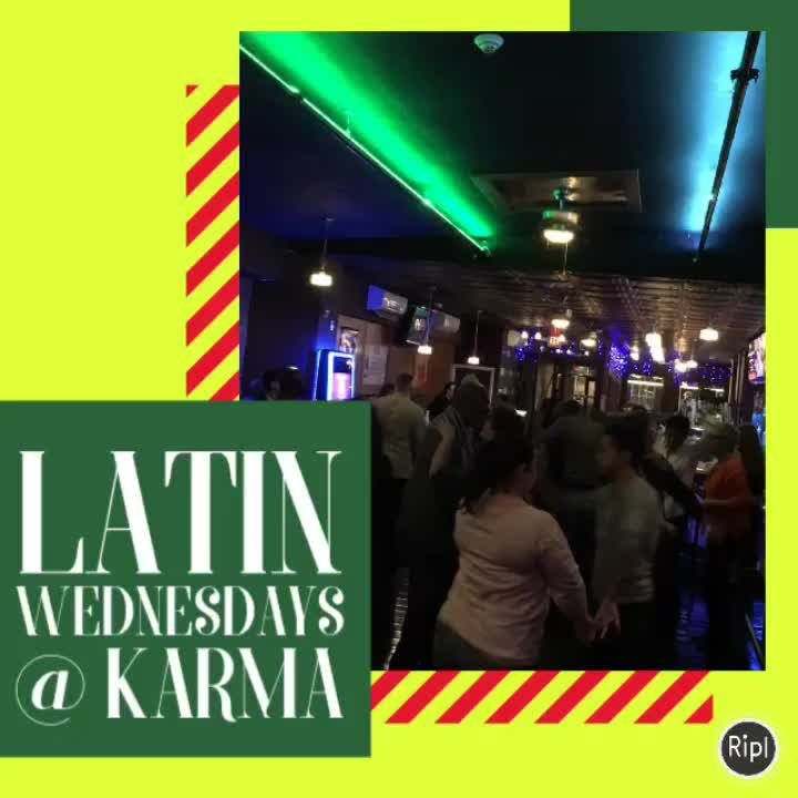 Every Wednesday is Latin Night 8pm-12midnight @ Karma Bar & Lounge (100 Main Street, Nyack, NY).   8-9pm All levels salsa lesson by Karen & Eric!!!  9pm-12midnight DJ SC-ONE will play all the dance favorites of salsa, bachata, merengue, etc!!!    #SalsaliciousBaby #salsa #Nyack #dance #party #littlemix   ♫ Ismael Rivera - Me Tienes Loco Made with Flipagram - https://flipagram.com/f/1JK2UarxaFS