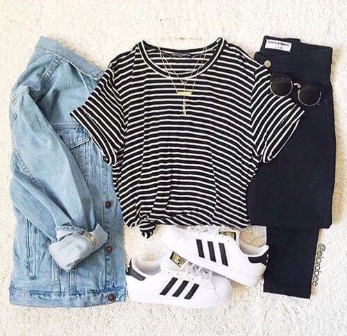 adidas, black, fashion, jacket, jeans - image #3607211 by ...