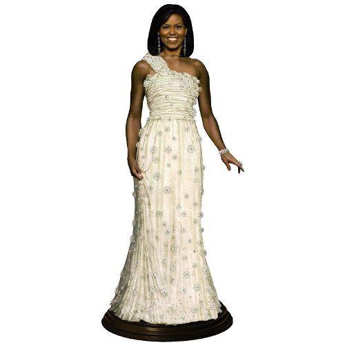 Michelle Obama Inaugural Doll Danbury Mint