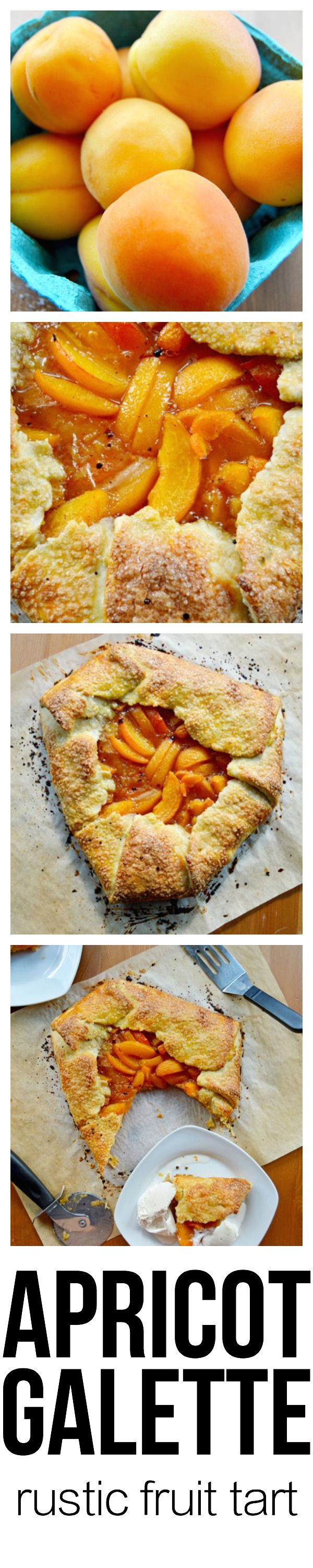 One of the best things I've baked lately is this Apricot Galette. Ripe apricots are baked to a jammy consistency and enveloped in a crispy, golden brown pastry crust that has been sprinkled with crunchy sugar. It's elegant, effortlessly sophisticated, and way easier than it looks. If you aren't into apricots, nearly any fruit can be substituted. This pin has step-by-step tutorials for the galette and pie dough   thehungrytravelerblog.com