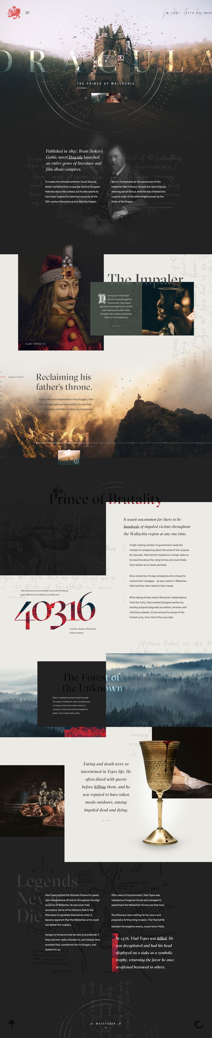 The Real Dracula by Taylor Perrin   website design ideas   website ...