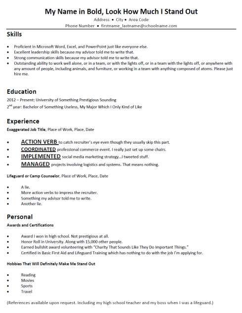7 best images about five bad resumes on pinterest
