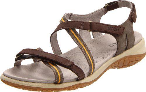 ECCO Women's Kawaii Kilea Cross Sandal,Espresso/Dark « Impulse Clothes