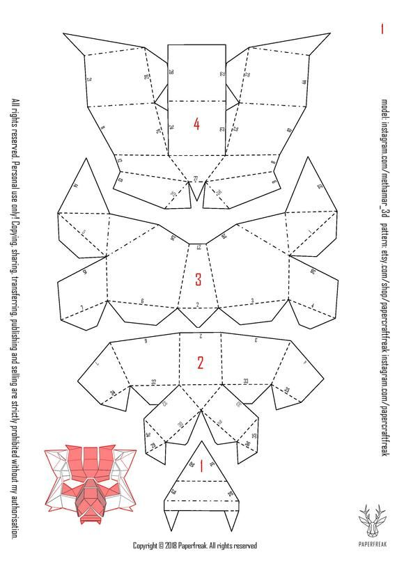mascaras geometricas de papel pdf gratis
