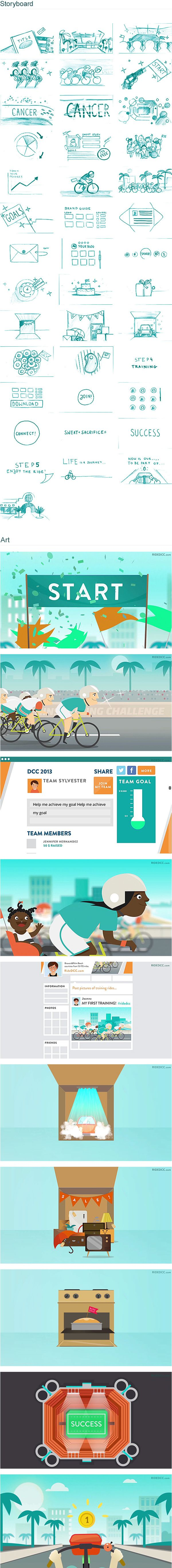 Dolphins Cycling Challenge by Studio Pigeon , via Behance