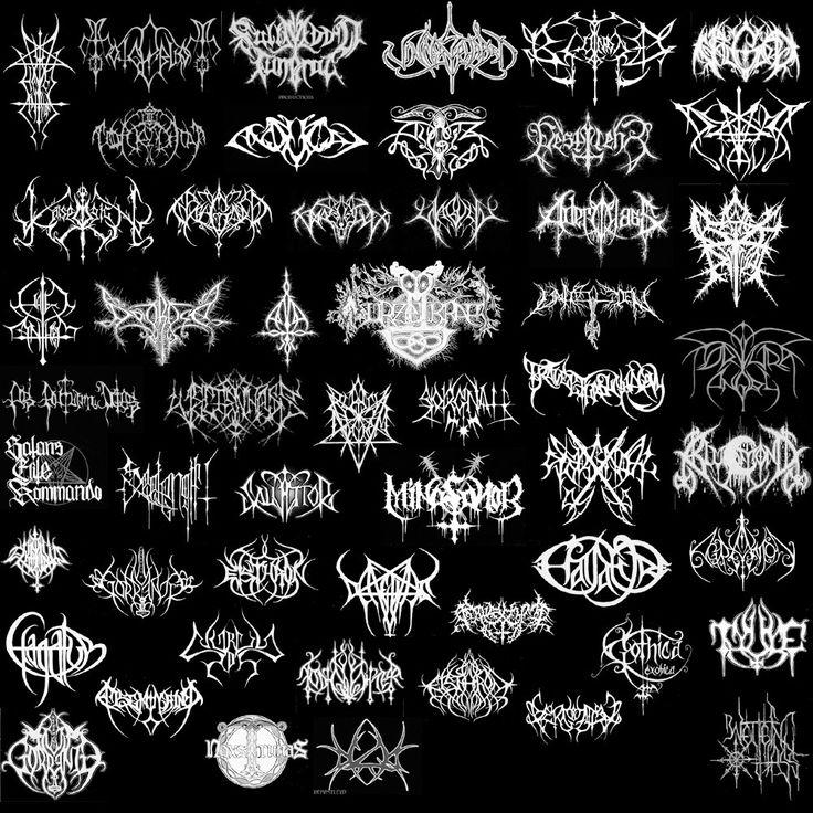 14 best mostly unreadable band logos images on pinterest band rh pinterest com brutal death metal logo generator death metal logo generator free