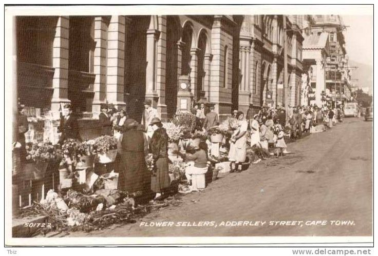 Adderley Street Flower Sellers Then