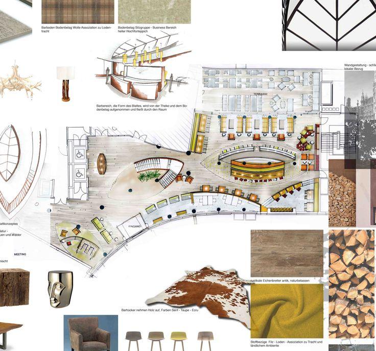 Reimann Interior - hotel lobby design - interior sketches