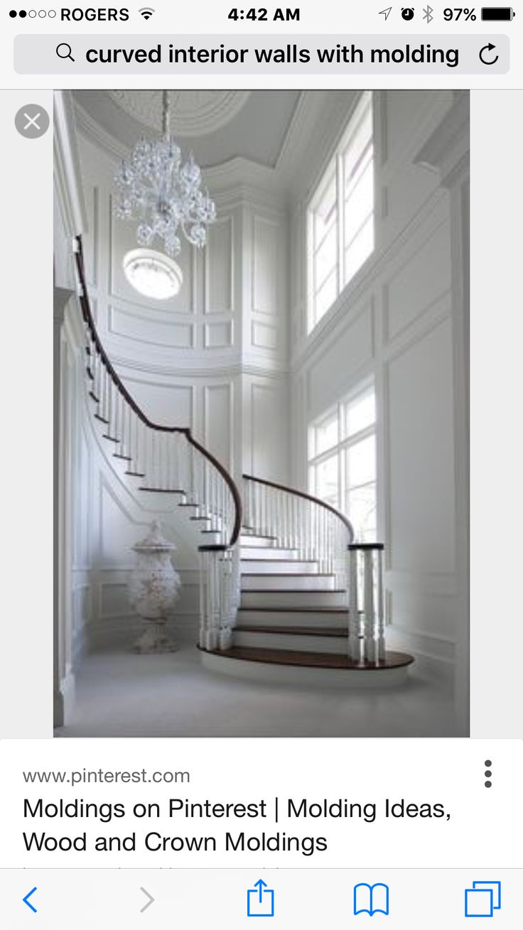 nice wall molding Traditional staircase, Staircase
