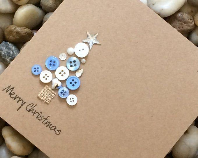 Lot de 4 cartes de Noël bouton bonhomme de neige carte de | Etsy