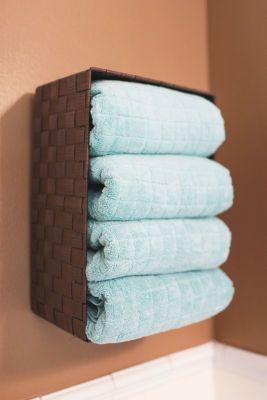 Bathroom Organization: Wall Storage Basket