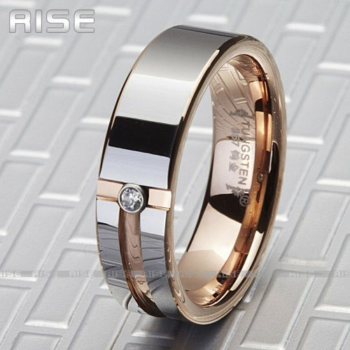NEW GIFT MENS TUNGSTEN RING ROSE GOLD WEDDING BAND 3A72 in Jewelry & Watches, Men's Jewelry, Rings   eBay