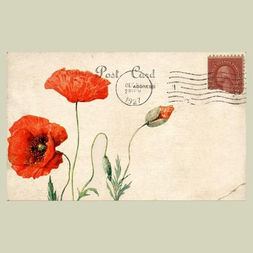 Poppy Mail Art Envelope #mailart #snailmail #happymail