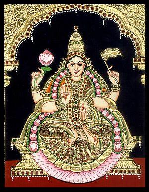 Tanjore painting of Lakshmi