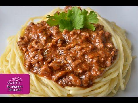 Szafi Fitt diétás bolognai recept (gluténmentes, tejmentes, paleo) ~ Éhezésmentes Karcsúság Szafival