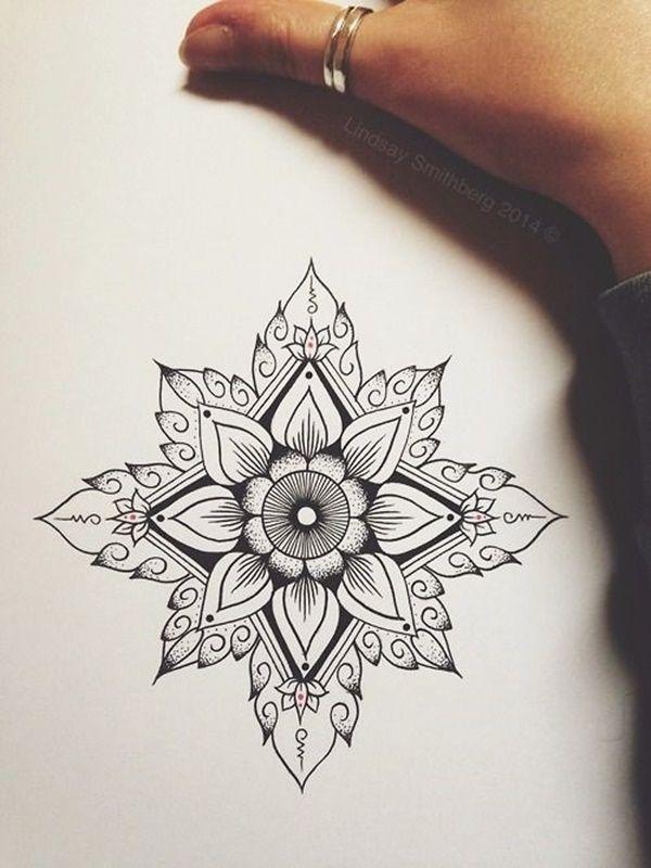 40 Simple Mandala Art Pattern And Designs Free Jupiter Simple Mandala Tattoo Flower Tattoo Designs Mandala Tattoo Design