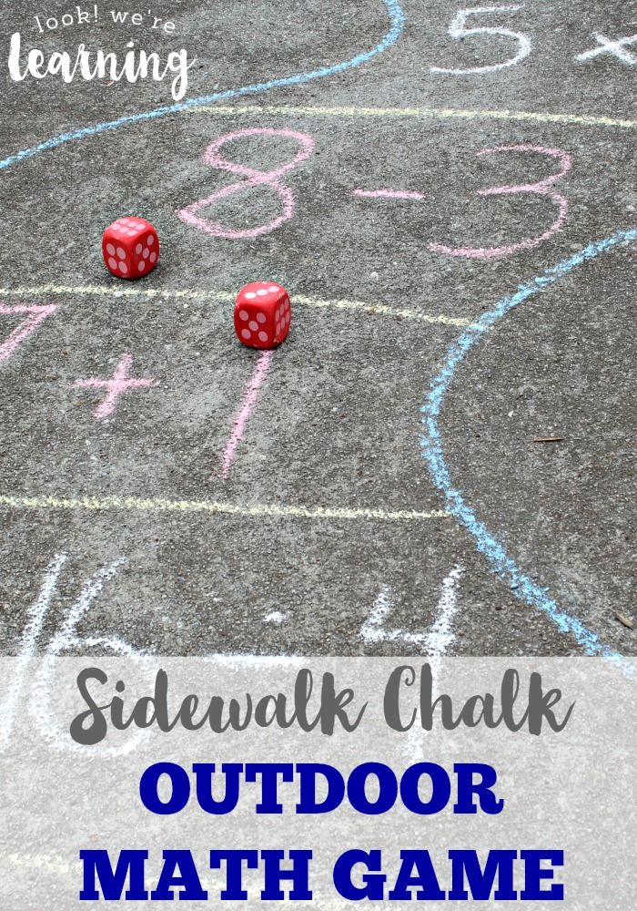 Sidewalk Chalk Outdoor Math Game! Great way to keep up on math facts during summer.