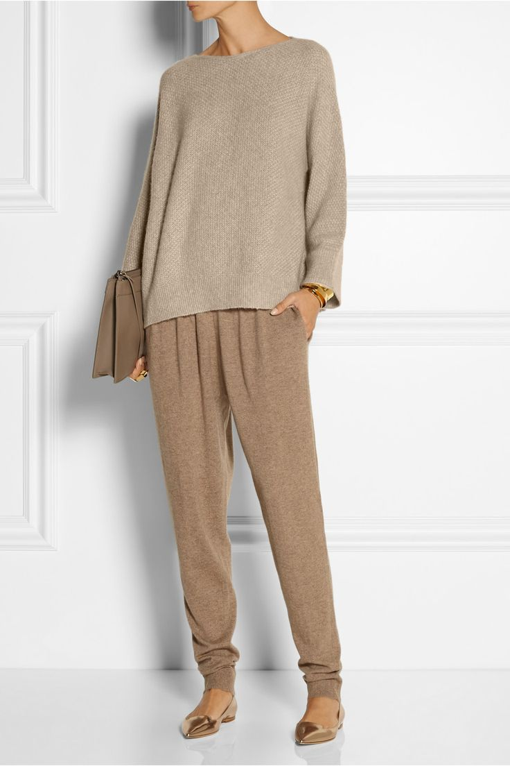 these pants look wicked comfortable. The Row | Kerr oversized cashmere and silk-blend sweater