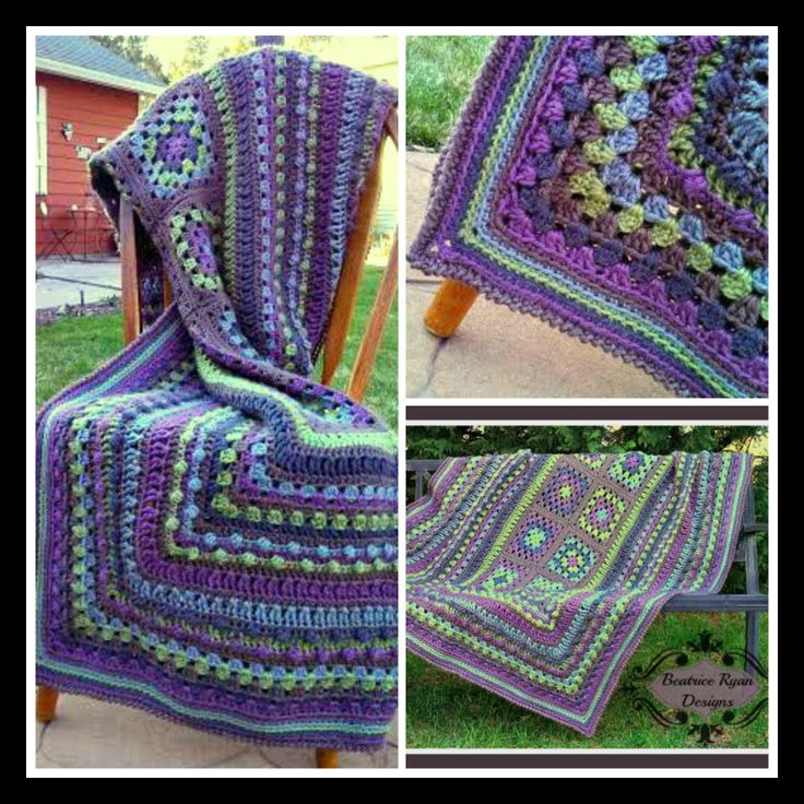 Granny Square Afghan Free Pattern By Beatrice Ryan Cal