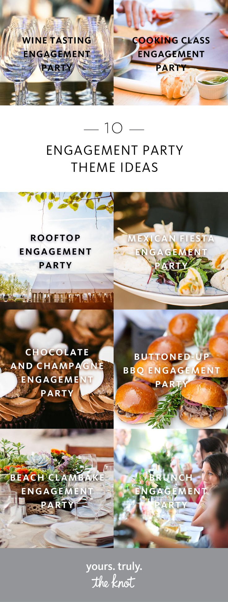 We have the key to throwing the perfect engagement party: Finding a theme that fits the couple of honor.