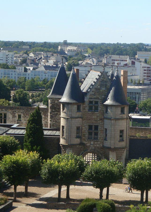 Le Logis Royal du Château d'Angers,vue du rempart. Maine et Loire, France.