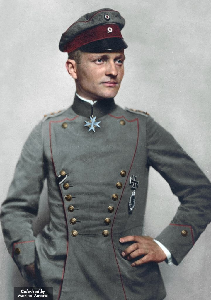 Manfred von Richthofen: The Red Baron. Top Ace of WWI, 80 victories.