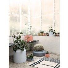 ferm LIVING Pots - all three, light grey, dark grey and peach