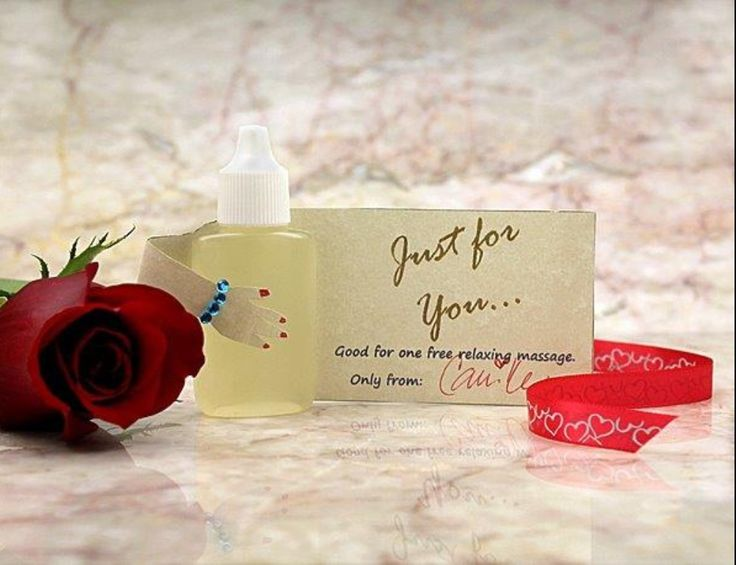 I Love A Massage Romantic Idea