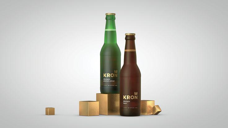 Krone (Crown) Organic Beer packaging