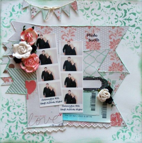 Page created with Teresa Collins, Save the Date collection by Barb for My Scrappin' Shop.