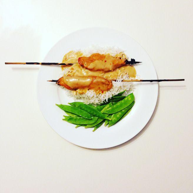 My Sweet 'n Salty Chicken Satay Skewers Recipe. Click to get it now!