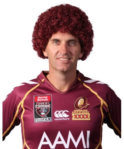 Maroon Afro Wig Wigs State Of Origin Pinterest Afro Wigs